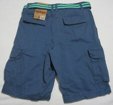 "#707_NWT URBAN PIPELINE Men's 30"" Blue Classic Length Cotton Cargo Shorts Belted"