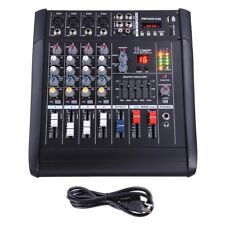 2000W 4 Channel Professional Powered USB Mixer Amplifier Amp 16DSP 48V Phantom