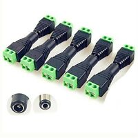 5Pairs Male Female 5.5 x 2.1mm DC Power 12V 24V Jack Adapter Connector Plug CCTV