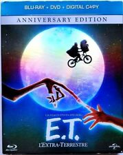 Blu Ray E.T. L'EXTRA TERRESTRE Anniversary Edition slipcase (Blu Ray + Dvd)..NEW