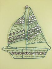 3D Acrylic Crystal Nautical Metal Sailboat Boat Seaside Beach Wall Decor Art