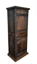 Crusaders Rustic Reclaimed Wood Curved Doors Bathroom Linen Cabinet