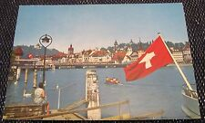 Switzerland Luzern Lucerne Seebrucke und Museggturme 6000-2 - posted 1977