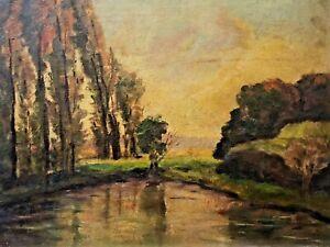 🔥 Antique California Plein Air Impressionist Oil Painting Landscape - Pillet