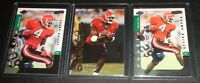 """Champ Bailey """"Rookie"""" LOT (3) 1999 Rookie Cards,Redskins,Broncos,Bulldogs"""