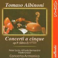 CONCERTO ARMONICO - CONCERTI A CINQUE OP.9  CD NEU ALBINONI,TOMASO
