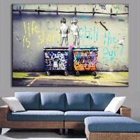 "NEW Street Art Print Canvas Quality Graffiti Large Banksy Andy Baker A1 24""x36"""