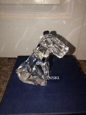 Swarovski Crystal Dog Schnauser With Silver Collar Box Included