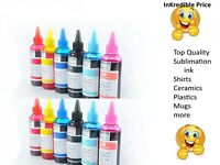 Dye Sublimation Ink for heat transfers and sublimation paper shirts mugs plastic