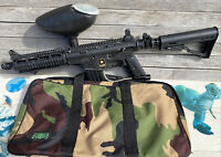 Tippmann 98 Project Salvo Paintball Gun US ARMY w Loader & Case