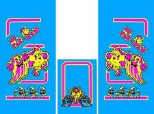 MS PAC MAN SIDE ART UV Printed not INK JET 6 Mil Semi Rigid Vinyl Installs Easy