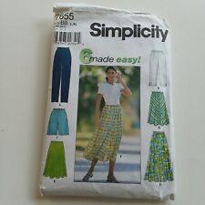 Simplicity Sewing Pattern 7655 Clothing Skirt Pants Shorts Size L XL BB