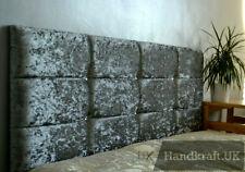 Crushed Velvet Headboard High Quality Diamante Designer 3FT 4FT 4FT6 5FT