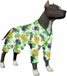 LovinPet Cotton Big Dogs Pjs/4-Legs Design/Full Body Coverage Protection