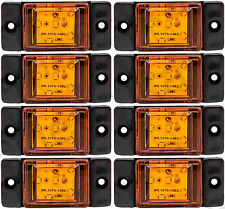 8 pcs Amber/Orange Side LED Marker Lights Lamps Truck Trailer Lorry 24V (6 LEDs)