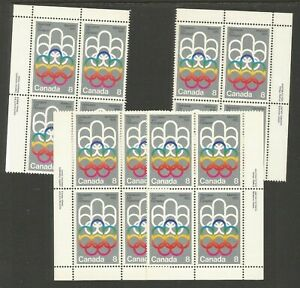 CANADA #623-24, MNH-VF, MS-PBs: Sports--Montreal Olympics