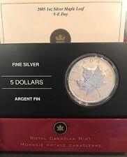 2005 Canada 1 oz Silver Maple Leaf - V-E Day