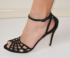 Hobbs Tamsin Sandals shoes, Black, suede, 40 (UK6.5), made in Italy, RRP£150