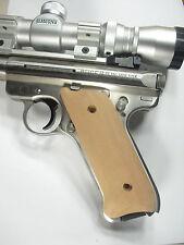 Unfinished Cherry Ruger Mark II/III Grips MK 2/3