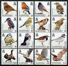Alderney Birds on Stamps 2020 MNH Definitives Owls Kingfishers Finches 16v Set