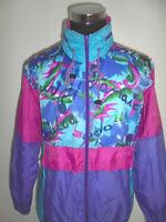vintage 90s SHAMP Nylon Jacke Regenjacke 90er rain jacket new wave oldschool L
