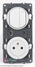 Variateur télérupteur 600W+prise affleur. blanc Céliane 67082+68031+67131+80252