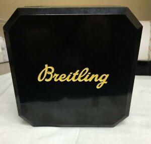 ORIGINAL   BREITLING PRESENTATION BOX YELLOW BLACK BAKELITE