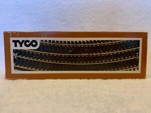 "Tyco HO Scale Box of 10 Brass 18"" Radius Curve Track New"