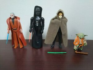 Vintage Kenner Star Wars Darth Vader, Obi-Wan, Yoda, Luke Jedi 4 Figure Lot!!!