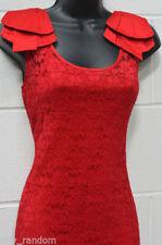 Vestiti da donna rossa senza maniche taglia M