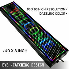 "40""x8"" Full Color P10 Led Sign Scrolling Message Display Business Signs Program"