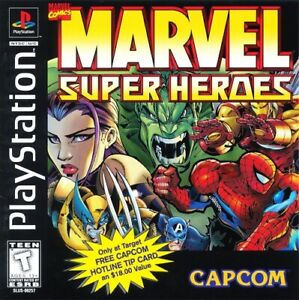 Marvel Super Heroes PS1 Great Condition Fast Shipping