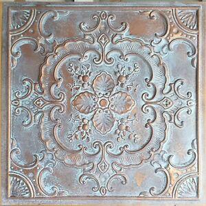 Faux tin vintage Ceiling tiles weather copper decor wall panels PL19 10pcs/lot
