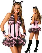 Halloween Gift Womens Lingerie Pussy Cat Fancy Dress Costume Clubwear