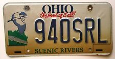 Ohio 2002 SCENIC RIVERS GRAPHIC License Plate NICE QUALITY # 940SRL