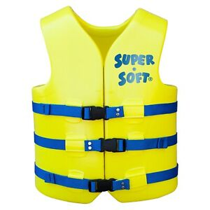 TRC Recreation Super-Soft USCG Adult Vest Small - Yellow  1022512