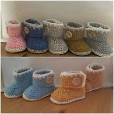 Handmade Crochet Knitted Newborn Baby Girls Boy Booties Boots Ugg Shoes 3 Sizes