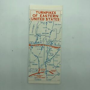 Turnpikes of Eastern United States USA - Map - 1966?