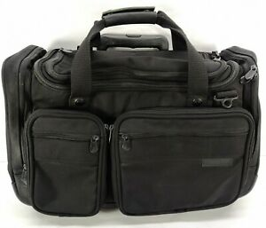 "Briggs & Riley Travelware Rolling Luggage Duffel Carry-On Bag Black 14"""