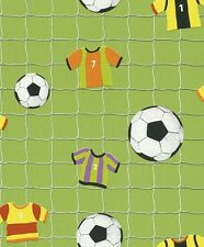 FOOTBALL SOCCER GREEN CHILDRENS KIDS GIRLS BOYS WALLPAPER 471700 FROM RASCH KIDS