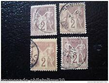 FRANCE timbre stamp yt n°85 x4 obl (D)