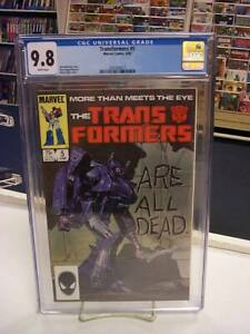 TRANSFORMERS #5 (Marvel Comics, 1985) CGC Graded 9.8 ~ WHITE Pages