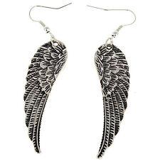 New Tibet Silver Women Hot Charm Jewelry Angel Wings Earrings Drop Dangle Gift