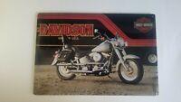 Harley-Davidson H-D Fatboy w/ Trailer Metal Tin Sign Ande Rooney