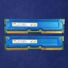 Samsung PC-600 / Rambus 600 / 256B (128MB x 2) RIMM Non-ECC - MR16R0828AN1-CG6DF
