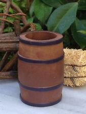 Miniature Dollhouse FAIRY GARDEN Farm Accessories ~ Large Open Wood Barrel
