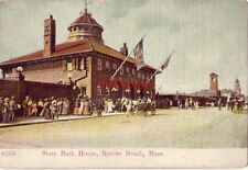 STATE BATH HOUSE, REVERE BEACH, MA horse-drawn carriages