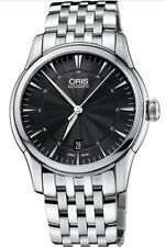 Oris Artelier Full Steel Watch . Bonus $800 Upgrade  Genuine Croco Leather Strap