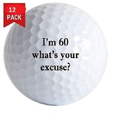 1 Dozen (60 what's excuse Logo) Brand New Taylor Made Tour Preferred Golf Balls
