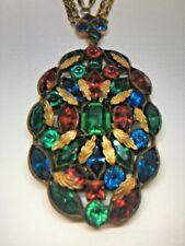 Vintage Beautiful Czech Rhinestone Three Strand Necklace